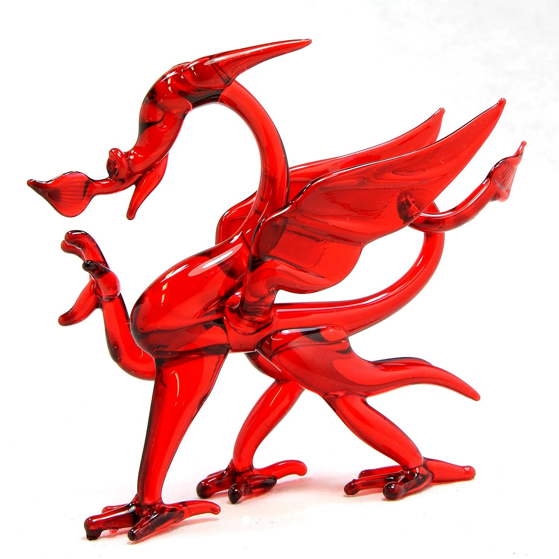 10x 3mm Felt Welsh Red Dragon Y Ddraig Goch Craft Shapes Sizes 6-15cm 11 Colours